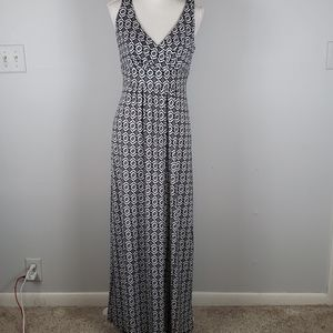 Chaps Maxi Wrap Sleeveless Bodice Dress M EUC